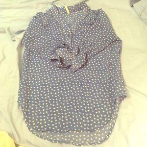 Fun cloud pattern half button up shirt