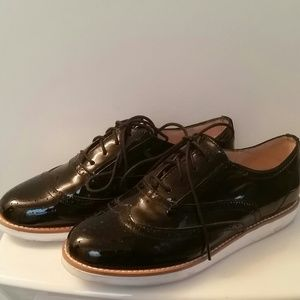 Black patent leather oxfords!