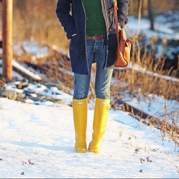 18% off Hunter Boots - NWOT Yellow Hunter Rain Boots from Mary's ...