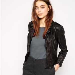 NWT Muubaa Cropped Biker Leather Jacket