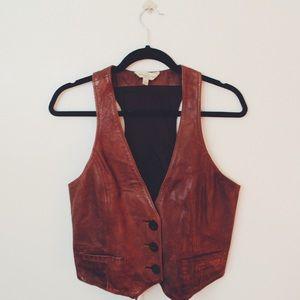 Abercrombie & Fitch Jackets & Blazers - Leather Vest