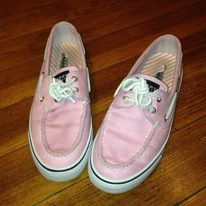 Sperry Top-Sider Shoes - Pink canvas sperry top-siders