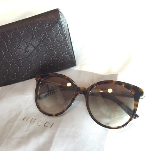12% off Gucci Accessories - Gucci Round Cat-eye Sunglasses ...