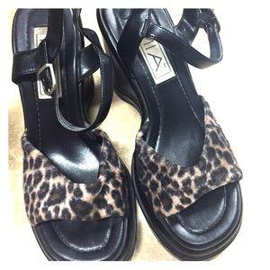 Shoes - Leopard sandal Shoes
