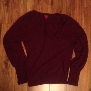 Halogen women's cashmere V-neck sweater