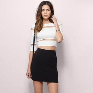 Tobi white mesh top