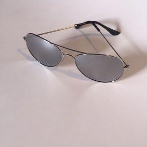 Accessories - All silver mirror aviator sunglasses.