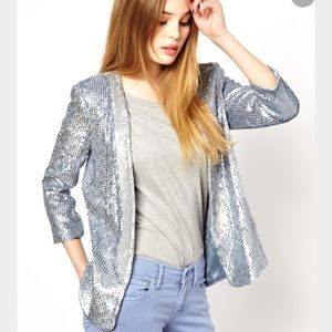 French Connection Sequin Blazer Size 6