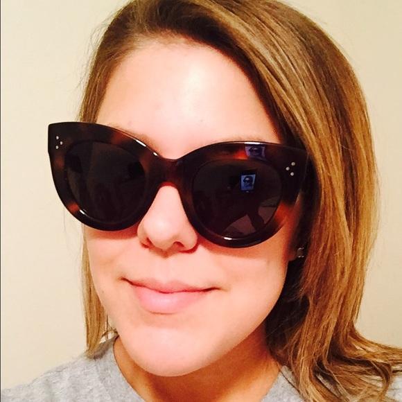 4eb129c6182e Celine Accessories - Celine Caty Tortoise Sunglasses