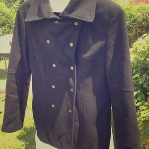 Guess military style peacoat Black L