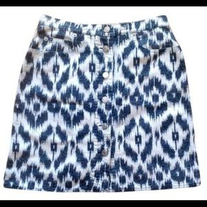 Les Copains Dresses & Skirts - Designer Ikat Button-Front Miniskirt from Italy