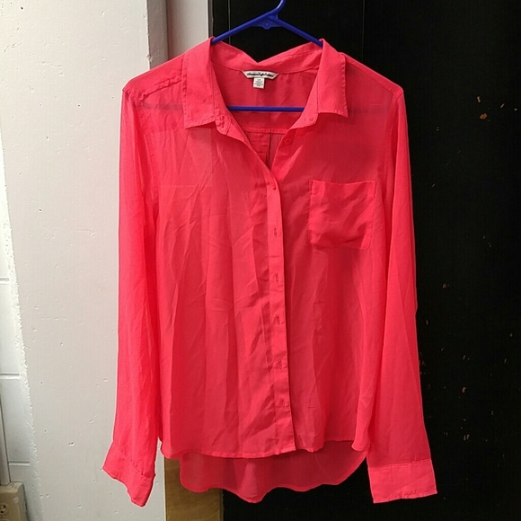 67 Off American Eagle Outfitters Tops Large Sheer Long