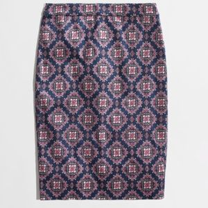 Factory Printed Pencil Skirt