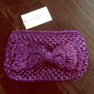 Purple woven Zara clutch
