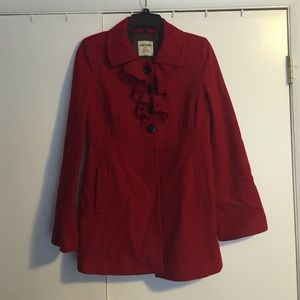 Old Navy Wool Red Coat