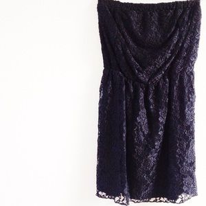| new | black lace tunic