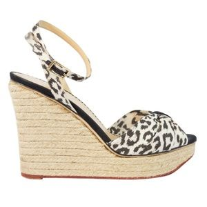 Charlotte Olympia Shoes - Charlotte Olympia Ankle Strap Leopard Espadrille