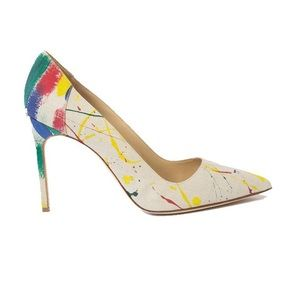 Manolo Blahnik Shoes - Manolo Blahnik Splatter Paint Pumps
