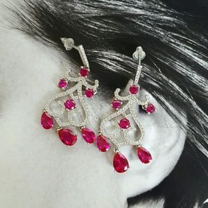 Jewelry - Classy Magenta earrings