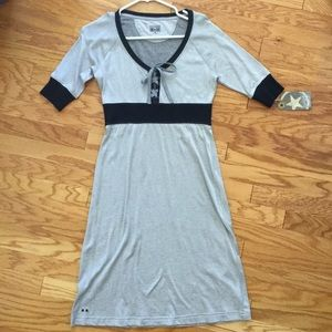 Navy Blue and Gray Converse One Star Dress