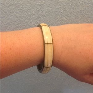 Vintage ivory & brass bangle