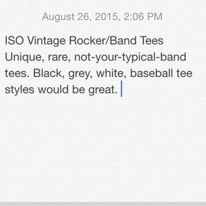 ISO rocker tees