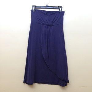 Blue strapless Barneys NY dress
