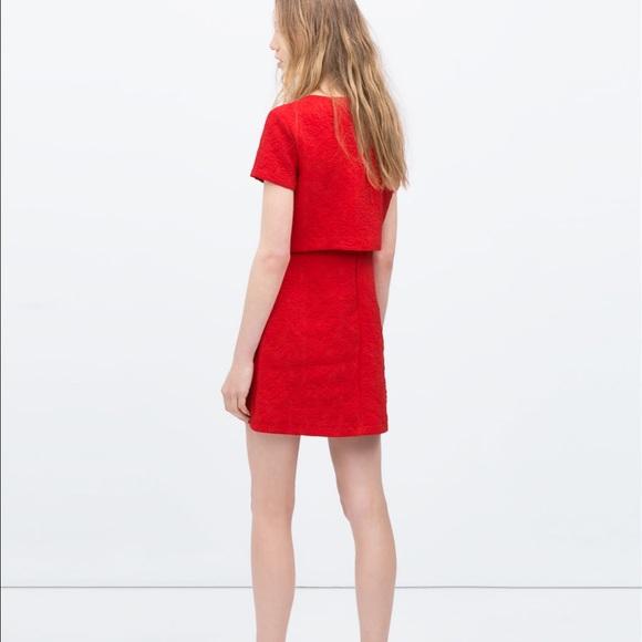 42% off Zara Dresses & Skirts - Zara brand new red dress ...