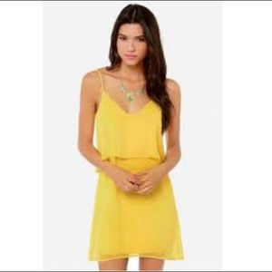 Lulu's Dresses & Skirts - Lulu's Tier, There and Everywhere dress in yellow
