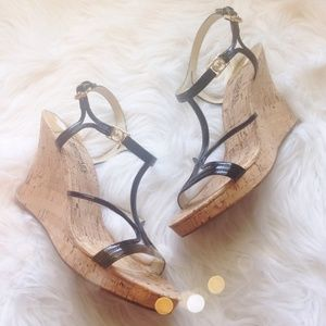 Michael Kors Strappy Cork Wedges