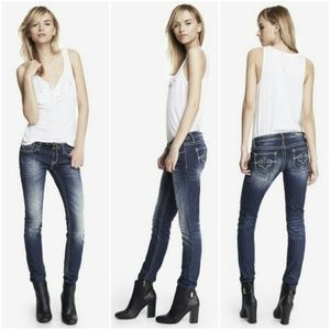 Express Denim - Rerock for Express Faded Distressed Skinny Jeans
