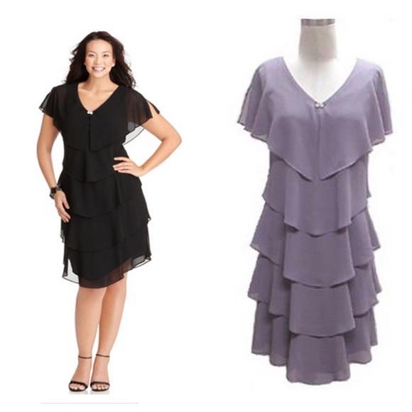 Patra Black Party Dress w/ sparkle V-neck NWT NWT