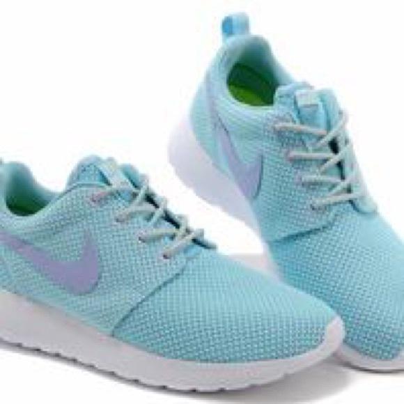 Nike Shoes | Roshe Run Mint Blue Green