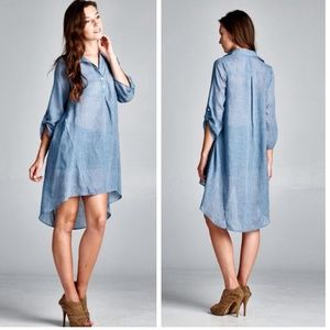 Hi Lo Boyfriend Shirtdress