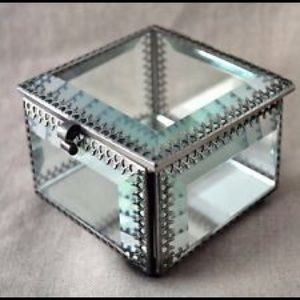 50 off Nicole Miller Other M Mirrored Glass Jewelry Box Poshmark