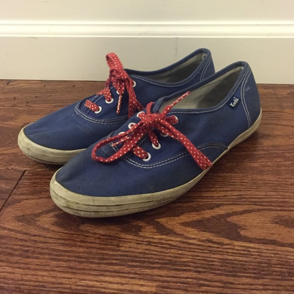 red white and blue keds shoes