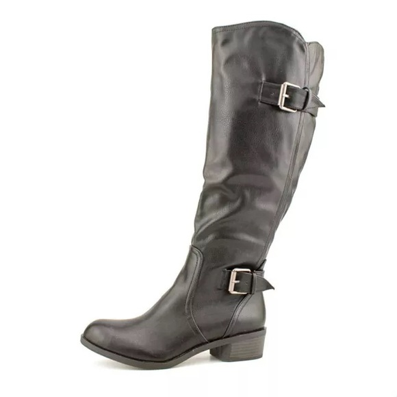 1c60ead9d5cf Style   co black knee high wide calf boots