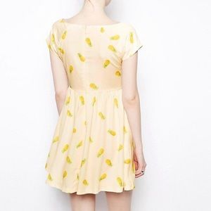 fa403bb54a5d3c ASOS Dresses | Nishe Pineapple Print Skater Dress | Poshmark