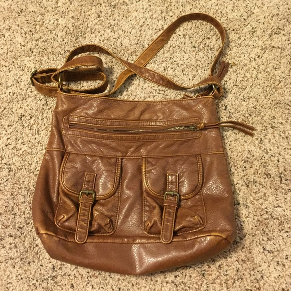 40% off Charlotte Russe Handbags - Brown Leather Over-the-Shoulder ...