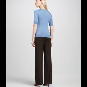 Lafayette 148 New York Pants - Brown Fit Trouser Slacks Pants