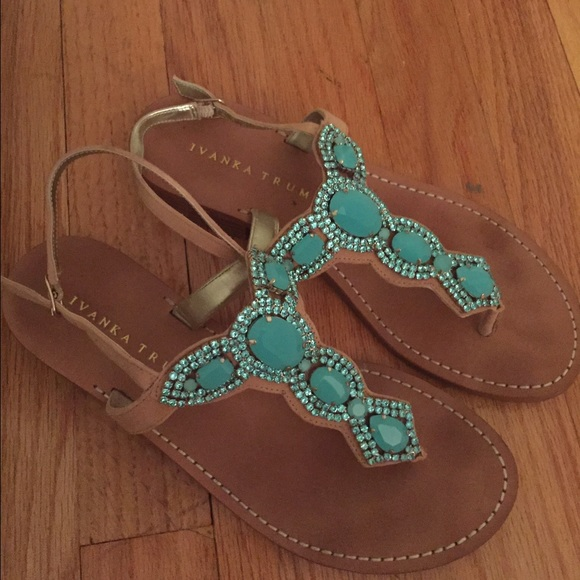 12dd8bfdd40e Ivanka Trump Shoes - Ivanka Trump Jeweled Sandals