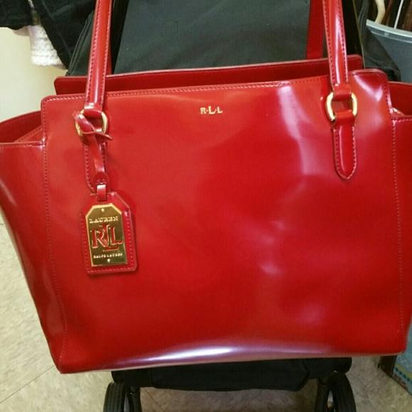 99% off Ralph Lauren Handbags - Ralph Lauren (Red) Patent Leather ...