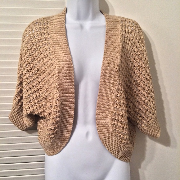 67% off H&M Sweaters - H&M warm beige/ gold, soft knit, shrug ...