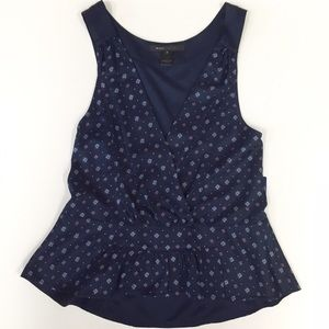 MARC JACOBS Navy Blue Print Top