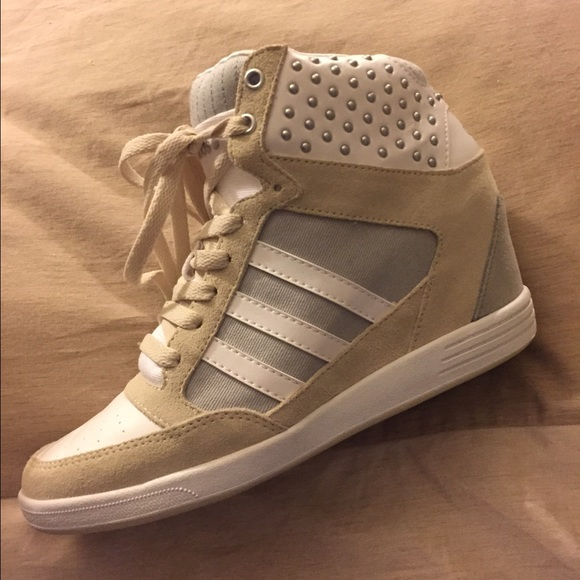 Women&s Adidas Neo Weneo Super Wedge Shoes