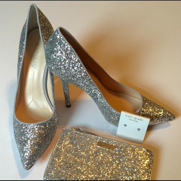 Nine West Silver Glitter Heels | Poshmark