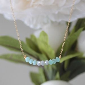 Ocean Ombre Beaded Necklace