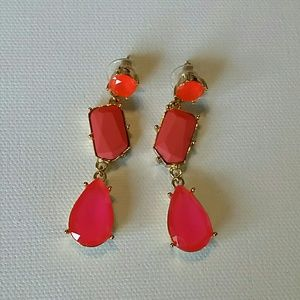 Kate Spade pink and coral drop earrings