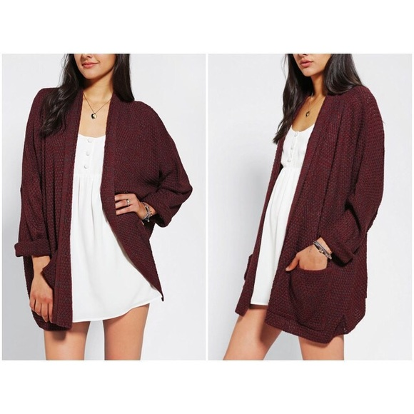 Urban Outfitters Sweaters Bdg Rolled Sleeve Open Cardigan Poshmark