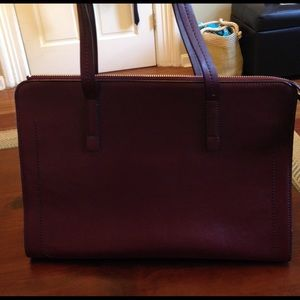 Burgundy leather Banana Republic bag!